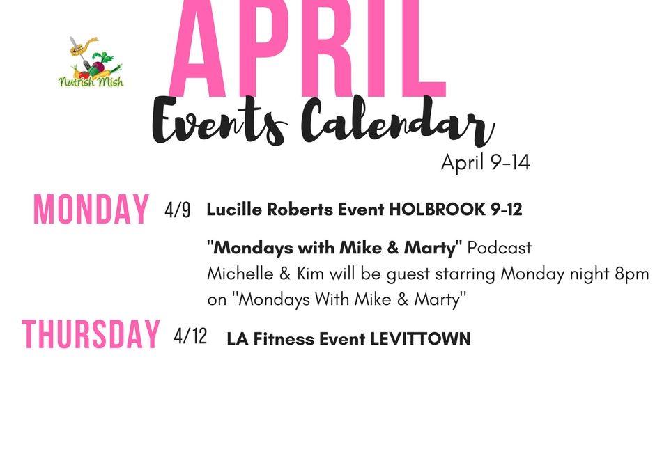 Weekly Calendar March 12-18
