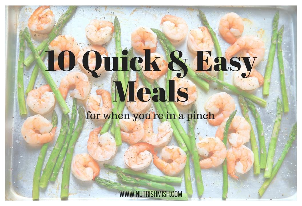 Quick easy healthy meals